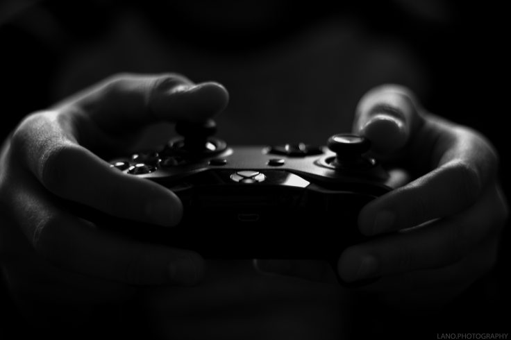 art-black-and-white-controller-194511