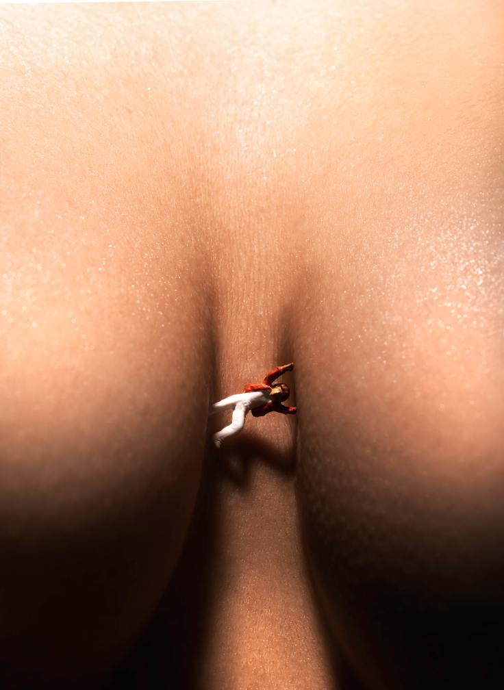 close-up-photo-of-miniature-toy-in-woman-s-chest-3786974